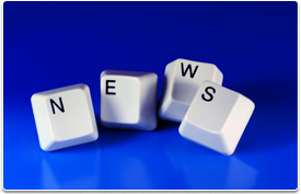 keyboard keys spelling out news