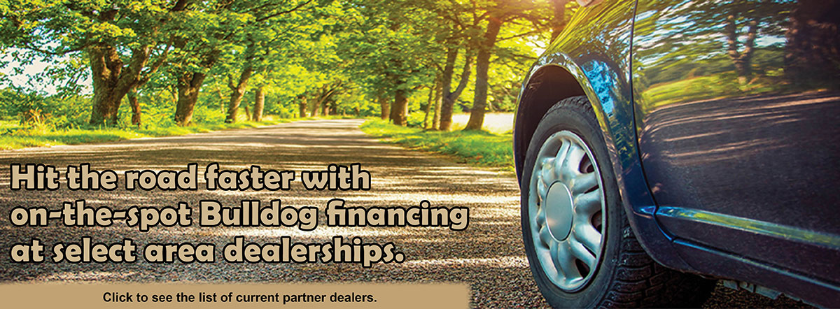 Get on-the-spot financing at the dealer