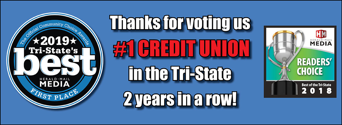 Thanks for voting us the #1 credit union in the tri-state